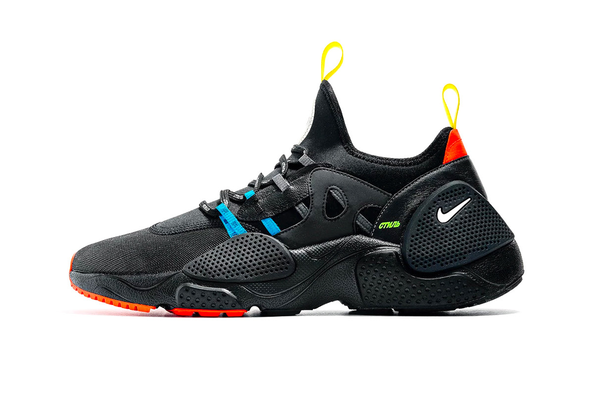 heron preston nike huarache edge first look 2019 footwear february