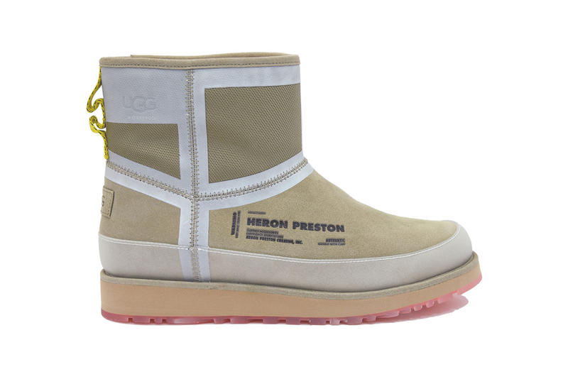 Heron Preston UGG Fall winter 2019 Collaboration Shoes Classic Short Front Zip HP Black Mini Urban Tech Orange Tasman HP Dune colorways release info date price