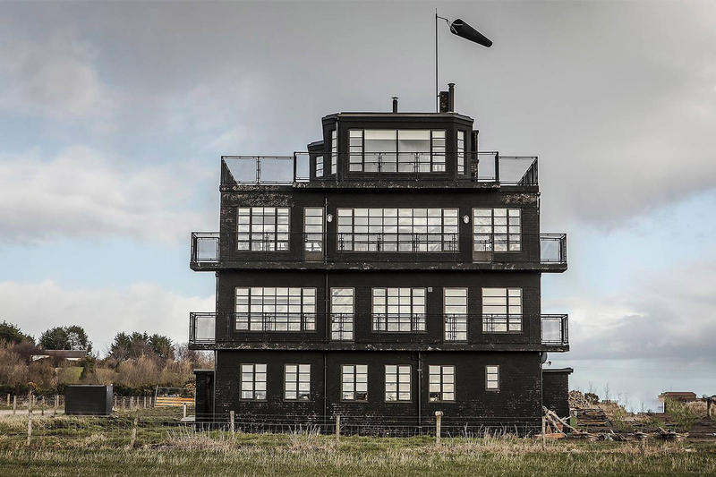 Scotland's Upcycled Air Control Tower Airbnb hms owl air control tower guesthouse WWII Crittall steel windows brick nc500