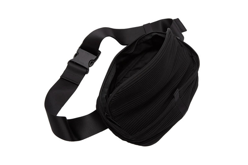 Homme Plissé Issey Miyake Pleated Waist Bag Black Red Release info Date