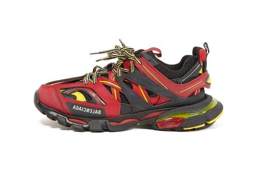 Balenciaga Red/Black/Yellow Track Sneaker