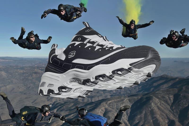 Huang Zitao x Skechers D'LITES 1.0 & Stamina BERENDO Lookbook black white green grey running