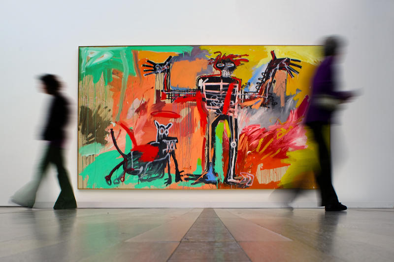 jean michel basquiat secret drawings invisible uv paint artworks paintings art conservation