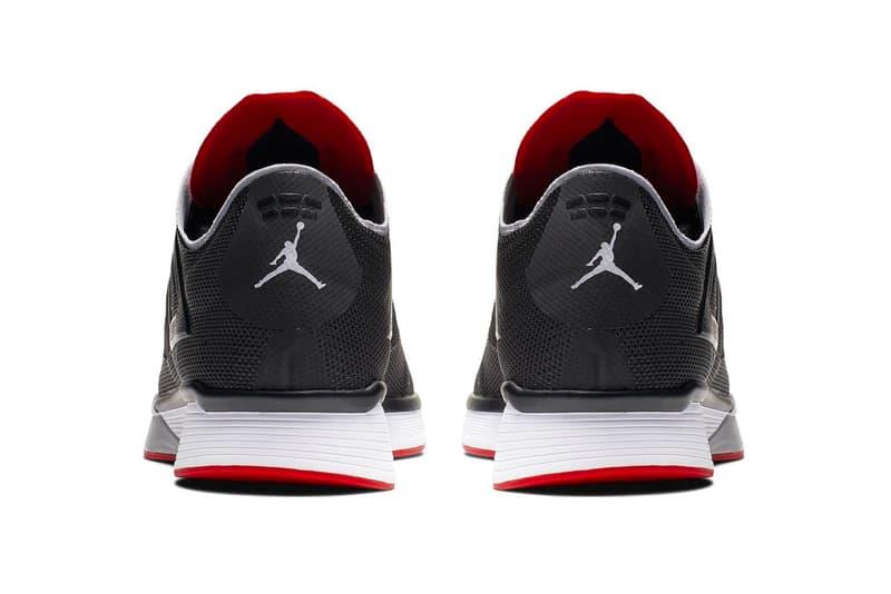 Jordan 89 Racer Black red bred Release Info Date runner running jordan brand sneaker colorway first look Air Jordan 4