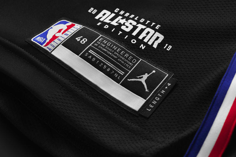 Jordan Brand 2019 NBA All-Star Game Uniforms Unveil East West Black White