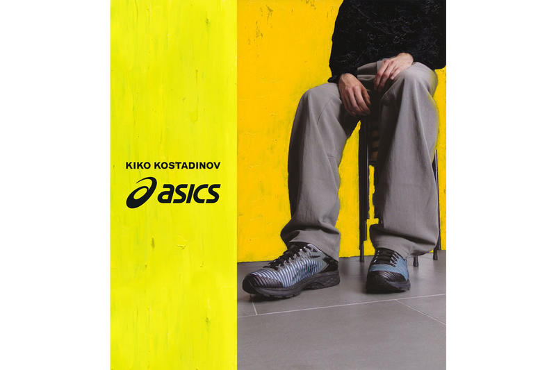 kiko kostadinov asics gel delva 1 collaboration collection release date drop info buy january 18 february 1 2019 buy shoe colorway spring yellow white black grey