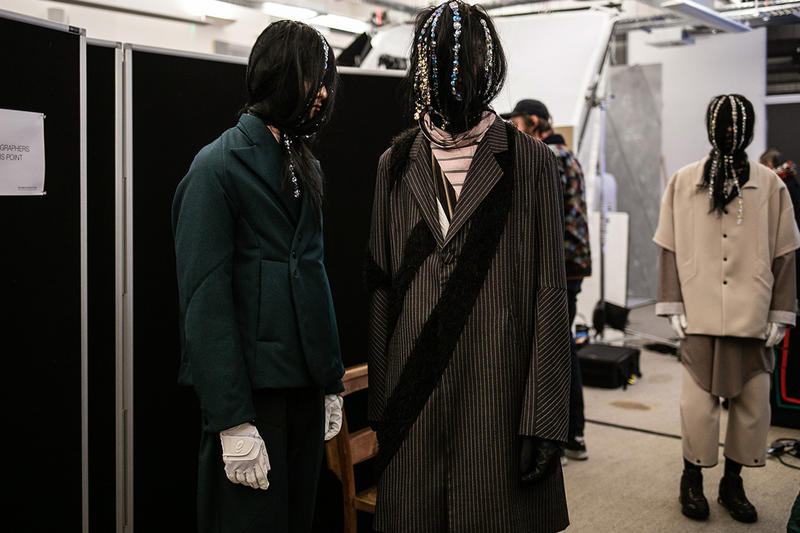 Kiko Kostadinov Fall/Winter 2019 Backstage LFW:M London Fashion Week: Men's Asics Camper