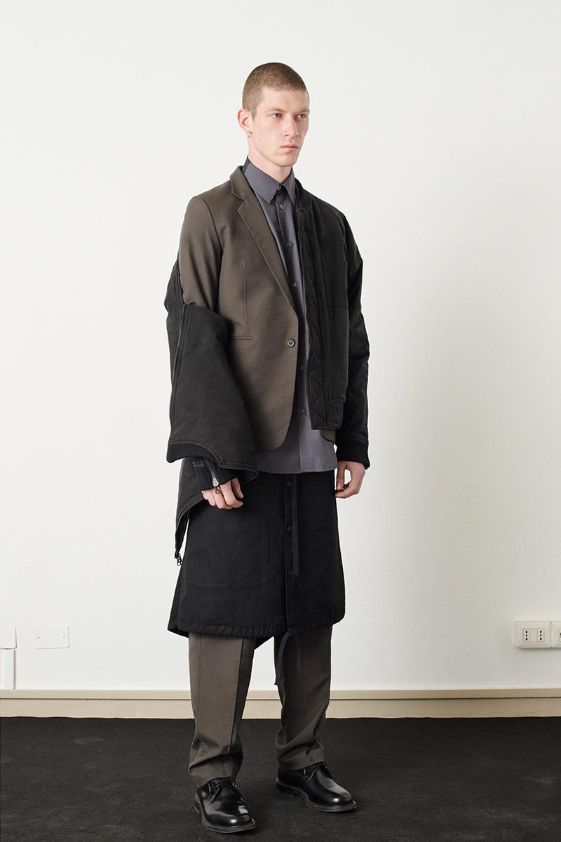 KOMAKINO Fall Winter 2019 Collection Lookbook tailoring suiting jackets sweaters trousers pants