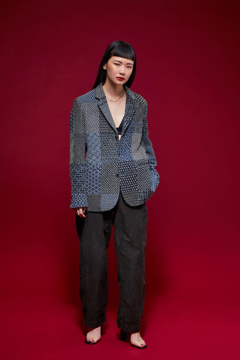 kuon spring summer 2019 lookbook images patchwork denim Americana Japanese style