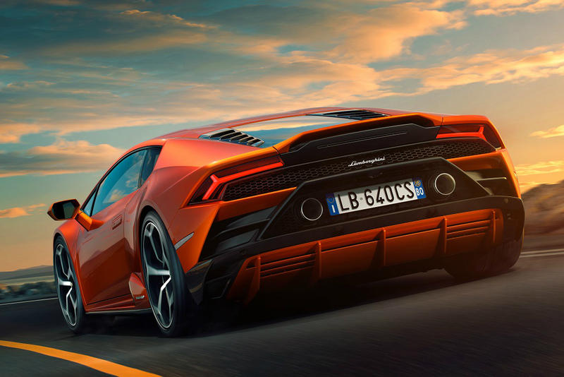 Lamborghini Huracan EVO 2019 pictures images photos pics orange details info information release date horsepower speed mph miles per hour specs specifications technical retail price cost