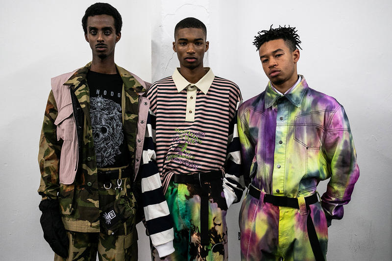 Liam Hodges Fall/Winter 2019 LFWM Backstage Ellesse Collaboration London Fashion Week: Men's Autumn/Winter 2019 Stain Shade Dystopia Hackers Lee Bul