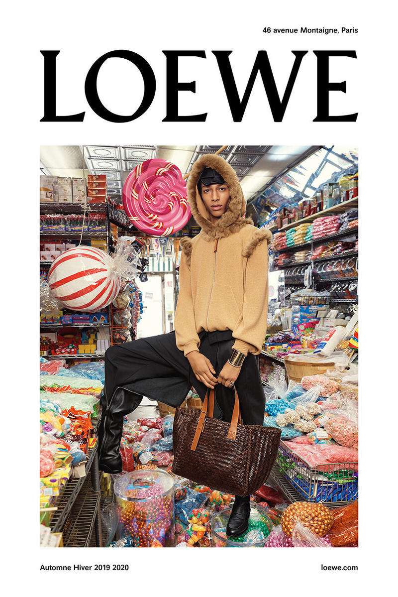 loewe fall winter 2019 collection campaign imagery stephen meisel look emoji menswear january 2019 fashion week Magnified Emotions