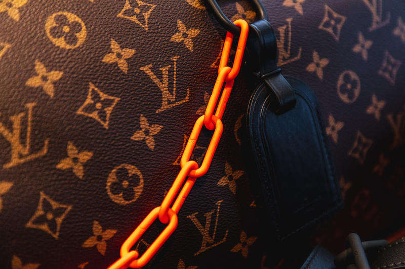 A Closer Look at Virgil Abloh's First Louis Vuitton SS19 Collection images apparel eyewear sunglasses wapity bag leather goods LV