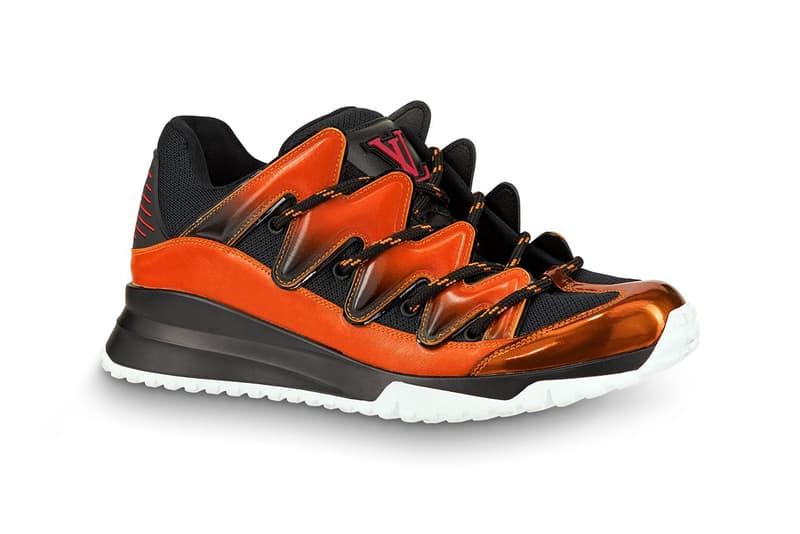louis vuitton zig zag sneaker virgil abloh footwear 2019 january blue orange white