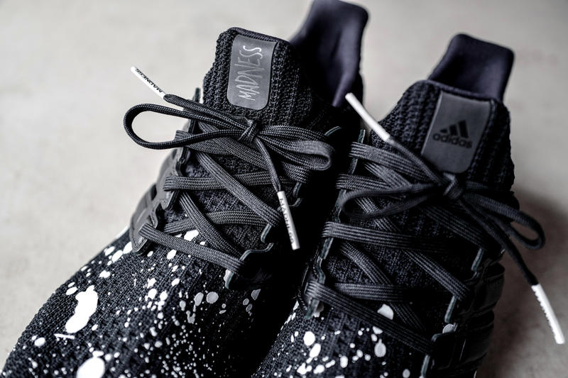 c125f57db MADNESS adidas UltraBOOST 4.0 Closer Look Shawn Yue Black White Splatter  Hong Kong Fashion