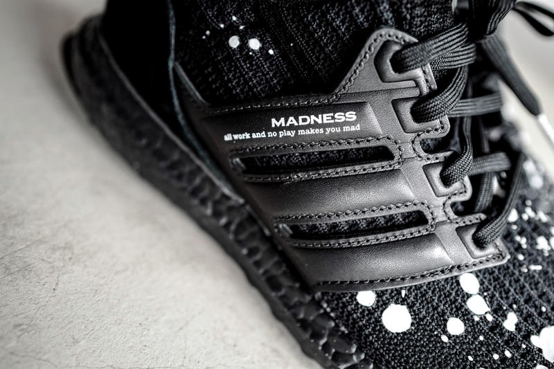 reputable site fe167 5b76a MADNESS adidas UltraBOOST 4.0 Closer Look Shawn Yue Black White Splatter  Hong Kong Fashion