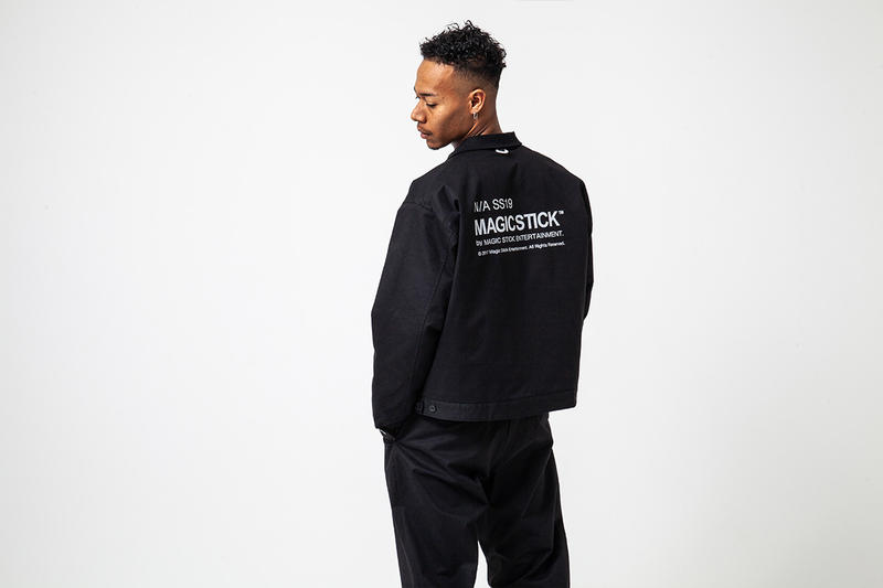 "MAGIC STICK ""N/A Not Applicable"" SS19 Lookbook spring/summer 2019 workwear iridescent reflective jacket tracksuit tokyo japan phase 1"