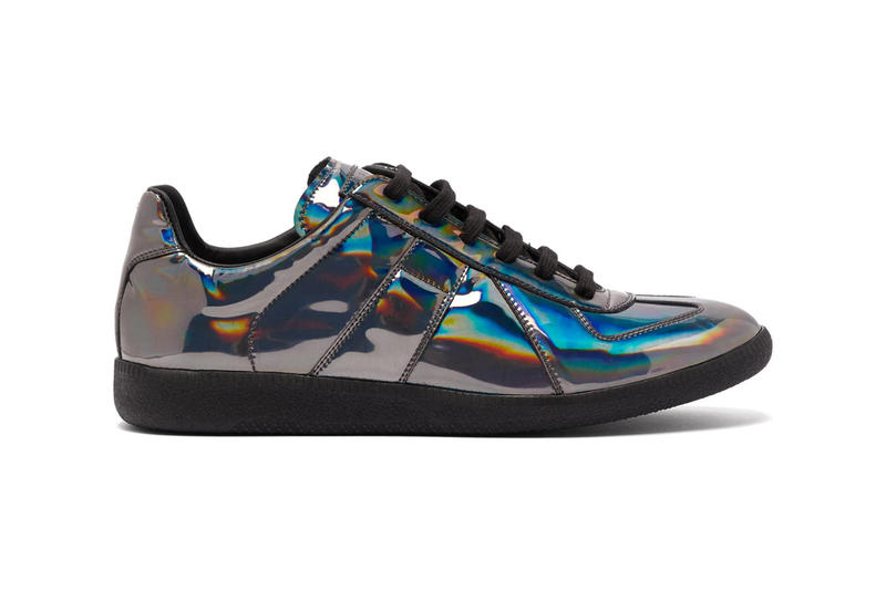 Maison Margiela Drops Iridescent Replica Sneaker maison martin margiela iridescent patent leather release date info pricing stockist matchesfashion