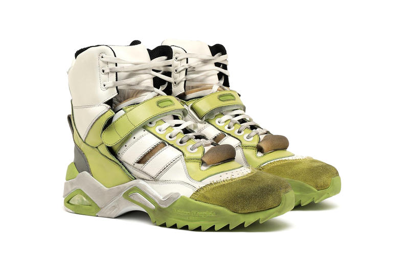 Maison Margiela Retro Fit High-Top Sneakers Red Green