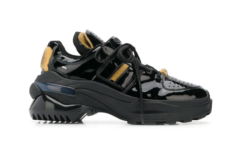 Maison Margiela Retro Fit Lo Top Black Sneaker Release Info price patent leather