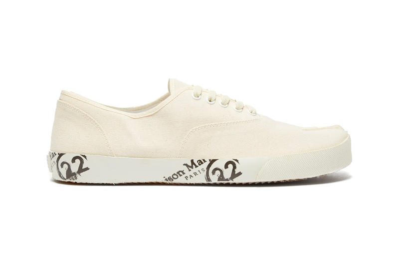 Maison Margiela Spring Summer 2019 Tabi Shoes footwear sneakers leather loafers printed canvas trainers split toe low top high top coated suede info release Date Boots