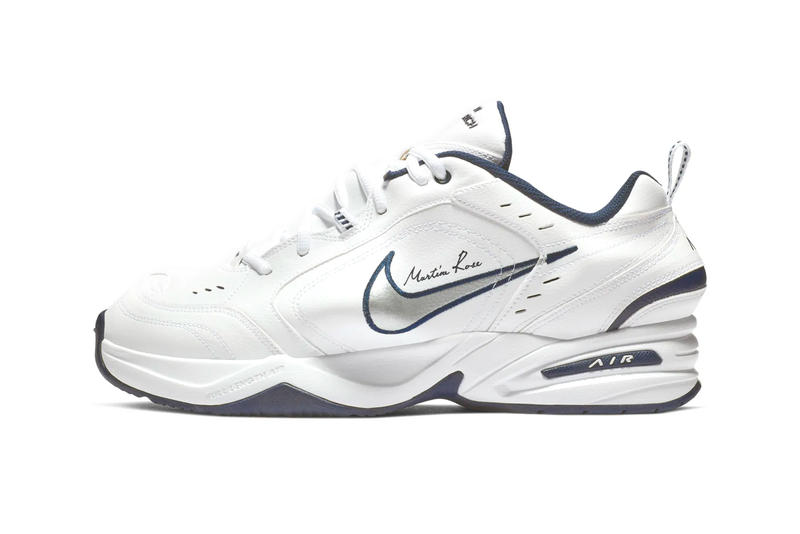 uk availability c50e7 8d0b2 Martine Rose Nike Air Monarch IV Release Date Launch Black White Blue Pink  Info Buy