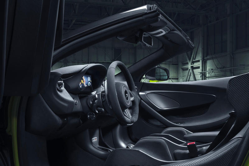 McLaren 600LT Spider First Look Green Black 2019 convertible supercar Release Info Date launch order