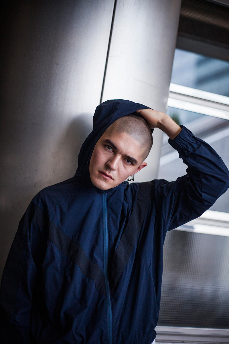 MINOTAUR Spring/Summer 2019 Lookbook gradient jackets army wrinkles ventilation coat coveral menswear collection ss19 fly knit polo dc-t flyknit m51