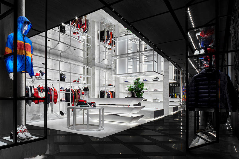 Moncler Singapore Marina Bay Sands Inside Look retail store closer The Shoppes Asia  shopping retail