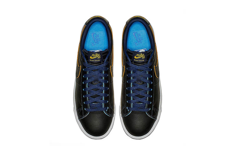 nba nike sb warriors blue yellow black white 2019 january footwear golden state warriors