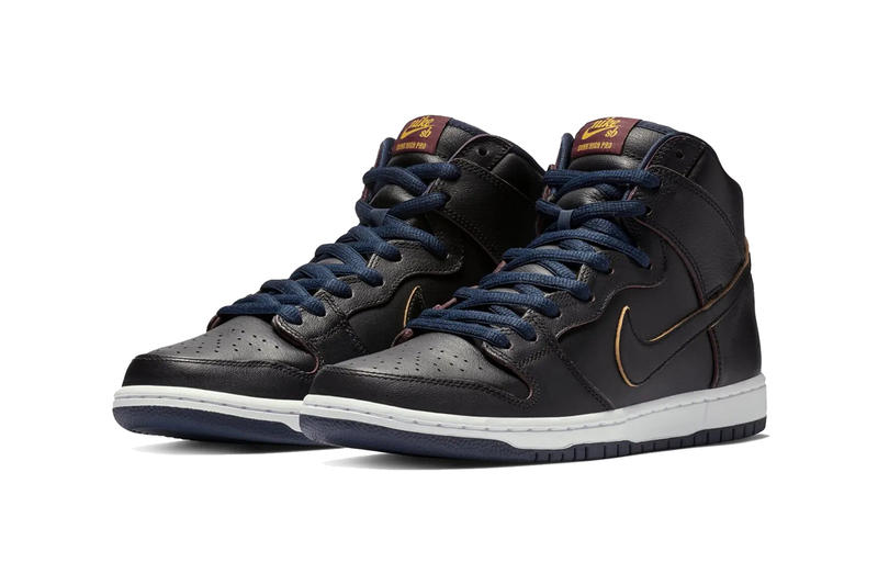 nba nike sb dunk high cleveland cavaliers 2019 january footwear black college navy team red