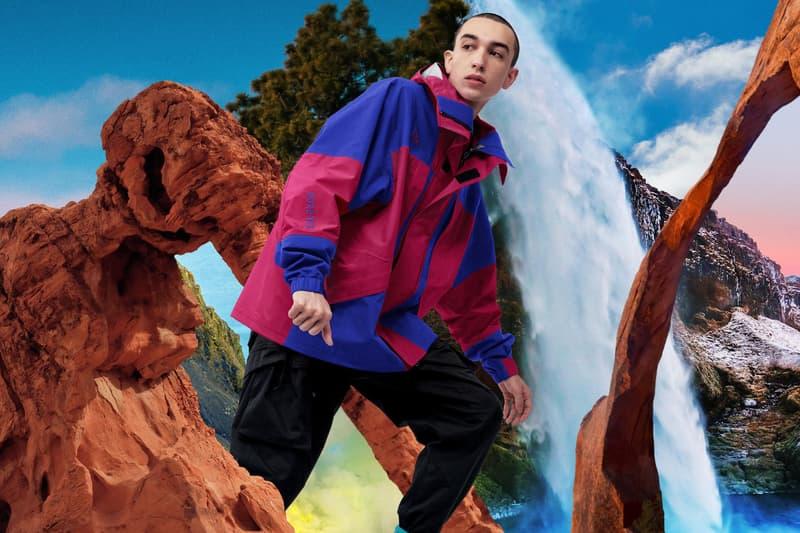 Nike ACG Spring 2019 Collection Lookbook Dri-FIT GORE-TEX Fleece Anorak Jacket purple green burgundy cap pants All Conditions Gear