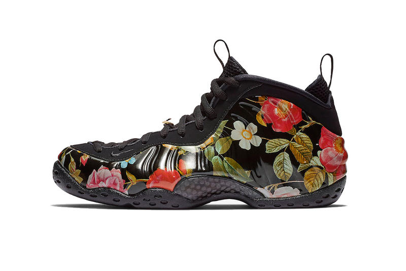 huge discount bed63 03d7a nike air foamposite one floral black black white 2019 february footwear nike  basketball nike sportswear