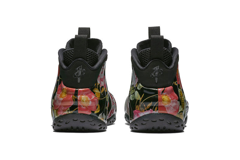 nike air foamposite one floral black black white 2019 february footwear nike basketball nike sportswear
