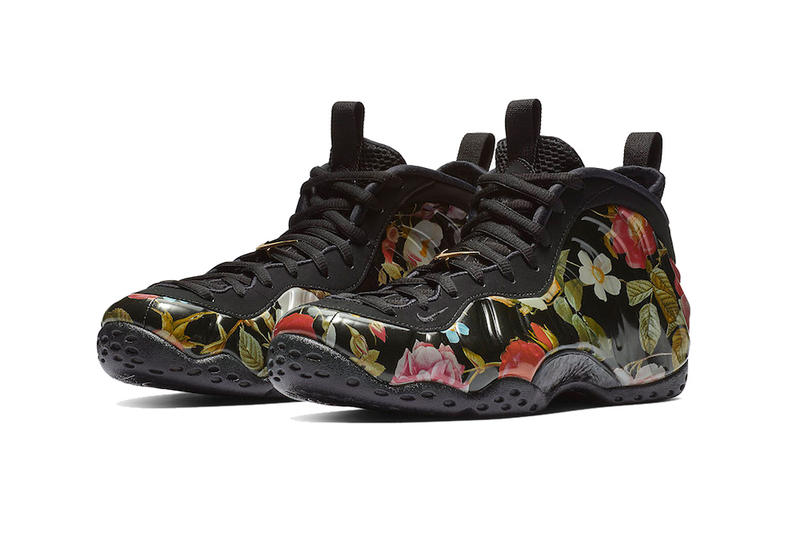huge discount 967b5 fe84a nike air foamposite one floral black black white 2019 february footwear nike  basketball nike sportswear