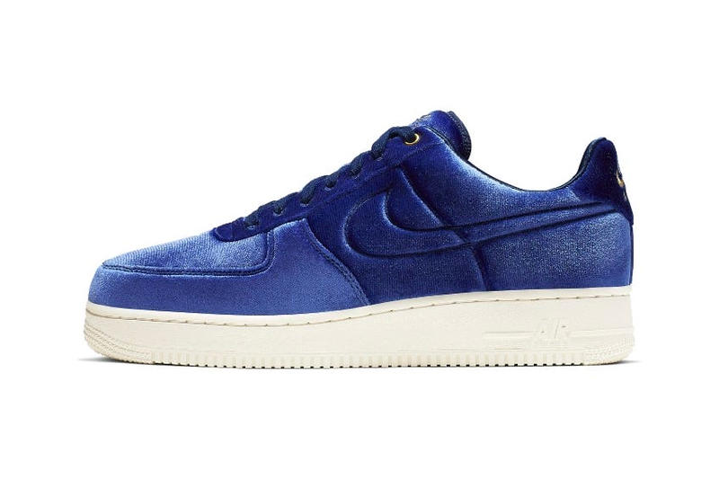 on sale 4917f 788f8 Nike Air Force 1 Receives a Velour Upgrade release drop date images price  blue void pink