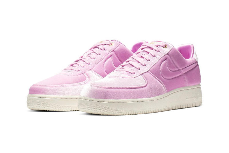 Nike Air Force 1 Receives a Velour Upgrade release drop date images price blue void pink rise black velvet footwear sneakers