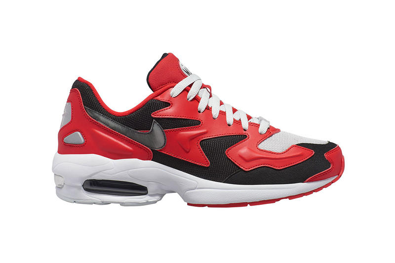 031889ae199 nike air max light 2 colorways triple white black habanero red blue purple  release date info