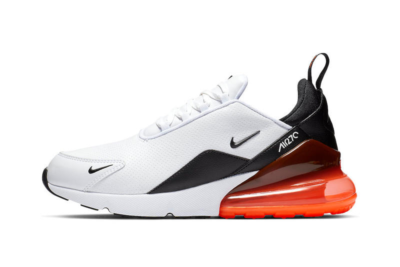 Nike Gives the Air Max 270 Trio a Leather Upgrade release drop date images info price black white orange olive green premium sportswear footwear