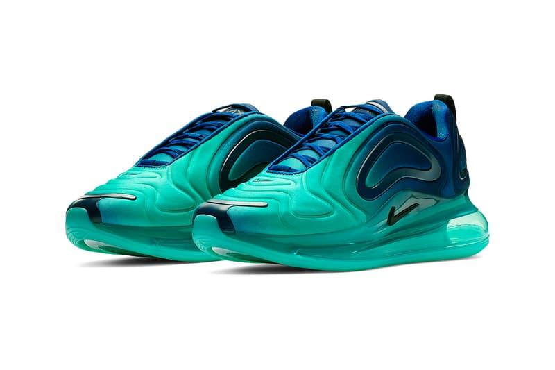 """Nike Air Max 720 """"Green Carbon"""" Release swoosh air max day green blue air unit"""