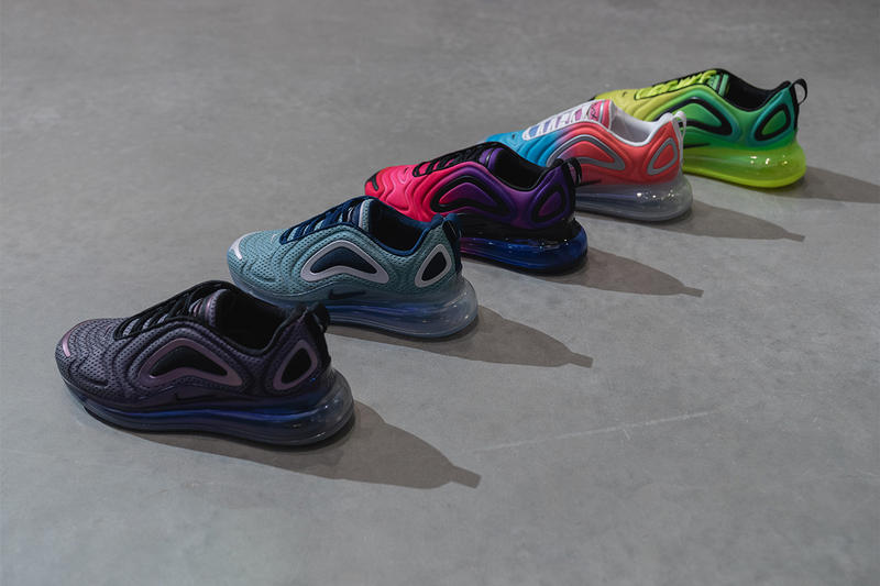 nike air max 720 closer look 2019 spring footwear nike running nike sportswear northern lights day night sunrise sunset total eclipse sea forest pink