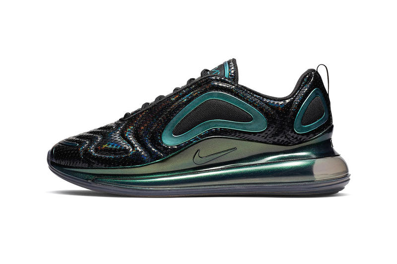 Nike Air Max 720 Iridescent Mesh Release Info Date sneaker black purple teal