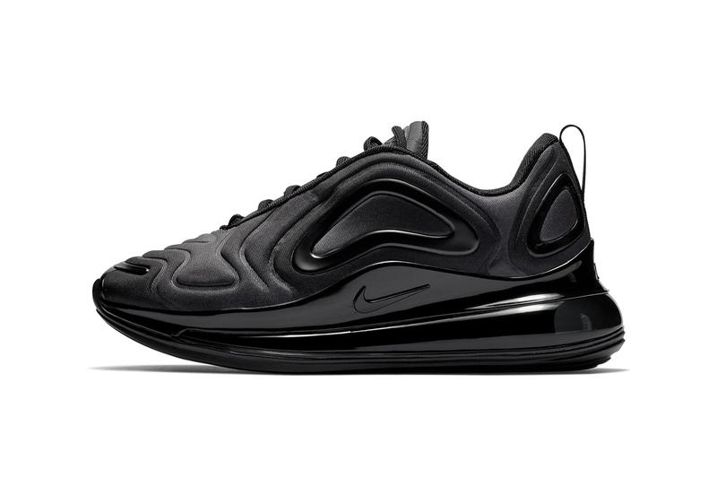Nike Air Max 720 Triple Black First Look Shoes Trainers Kicks Sneakers Footwear Release Details Closer All Subtle Minimalist