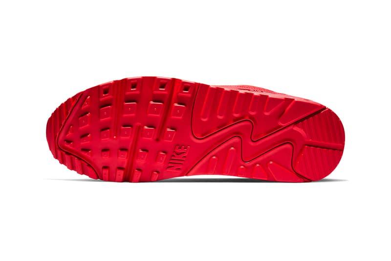 "Nike Air Max 90 ""All-Red"" Release white bold vibrant supreme monotoned"
