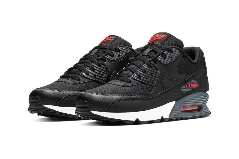 "Nike Air Max 90 ""Hot Habanero"" Release swoosh black red white"