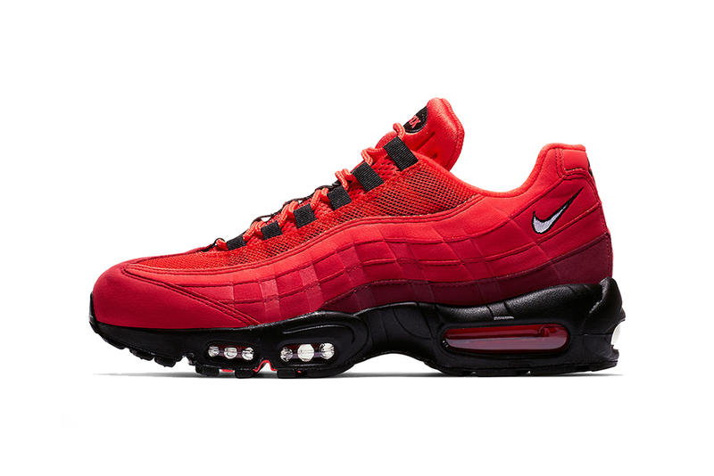 92b069fcdc nike air max 95 habanero red black white 2019 spring footwear nike  sportswear. 1 of 4
