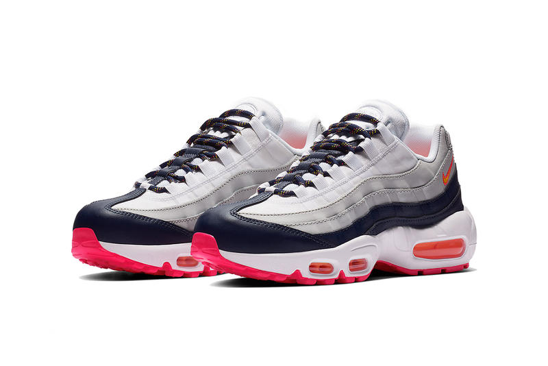 nike air max 95 midnight navy laser orange pure platinum 2019 february footwear nike sportswear