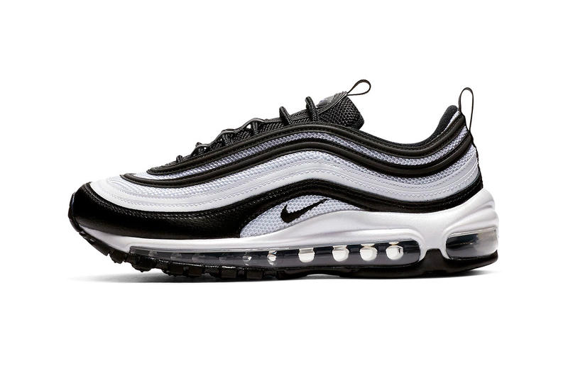 895d5cf497 A Closer Look at Nike's Panda-Inspired Air Max 97 black and white footwear  images