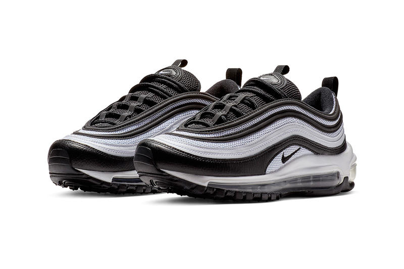A Closer Look at Nike's Panda-Inspired Air Max 97 black and white footwear images release date info