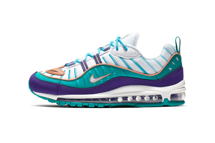 32abad5fe89 Nike Reworks the Air Max 98 In a Charlotte Hornets-Inspired Colorway